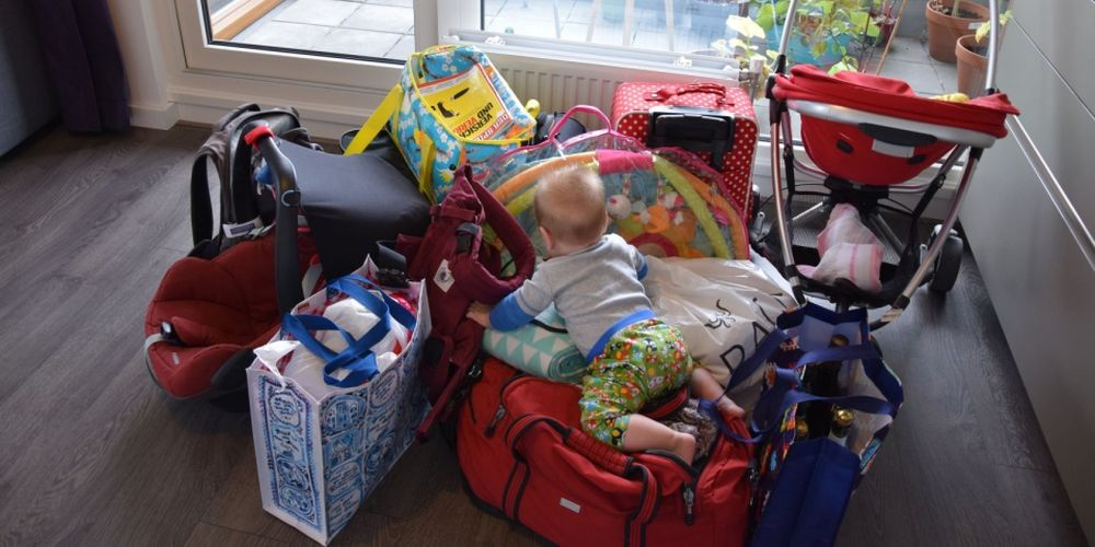 Everything's packed! So much stuff for such a tiny little fellow…