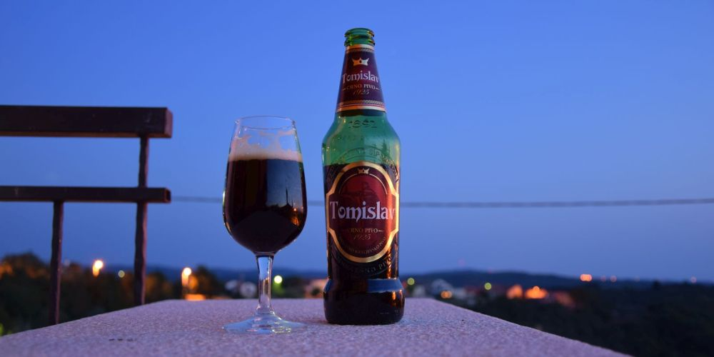 In between all the wine drinking I made time for Tomislav, my favourite Croatian beer. I had to wait almost a year to drink this again.