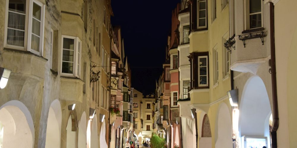 Brixen by night.