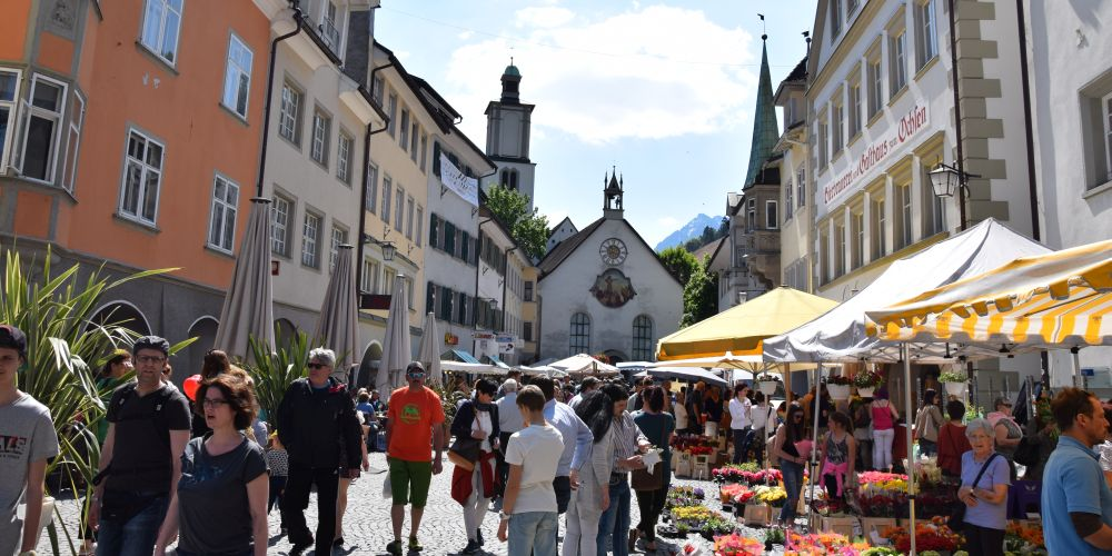 The market in Feldkirch from another point of view.